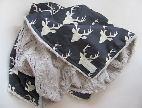 baby boy blanket,baby nursery,deer minky blanket,buck plush minky blanket by OliMariniStudio on Etsy