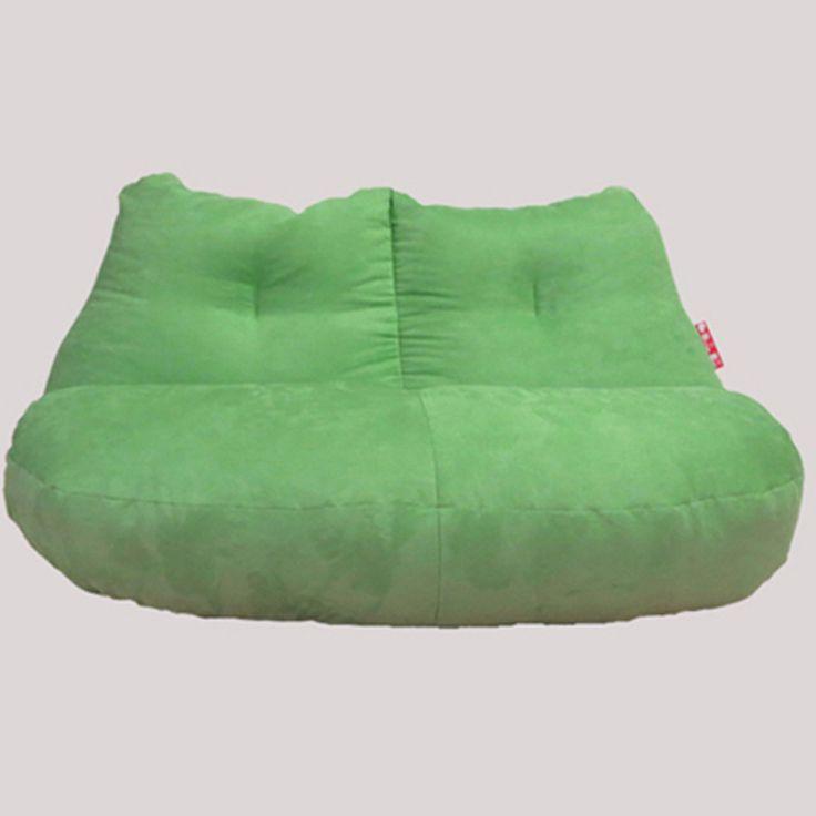 Бесплатная доставка зеленая фасоль без заполнения современный диван стул роскошные замшевые lounger диван стул мешок фасоли диван