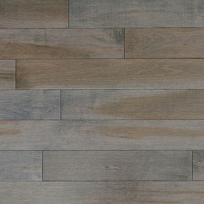 Stained Semi Gloss 4 14 Solid Maple Flooring In Charcoal