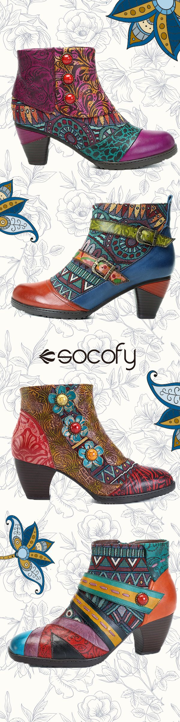 2018 newest fashion handmade Rereo printed leather boots.You deserve better.