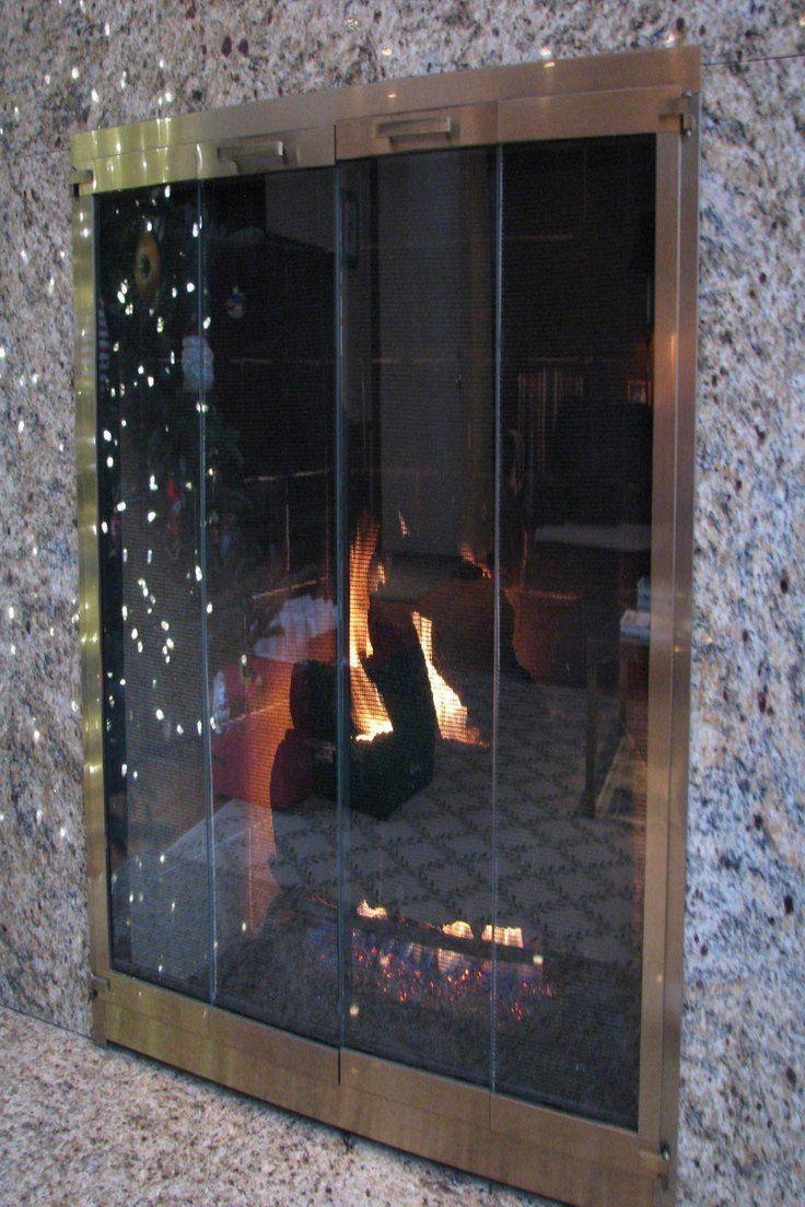 249.99 | Stoll Antique Brass Flat Fit Fireplace Doors Bifold Glass Doors  Screen Doors ❤ - 249.99 Stoll Antique Brass Flat Fit Fireplace Doors Bifold Glass