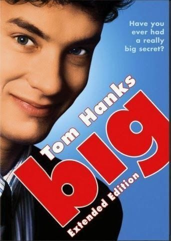 Big (1988) When a boy wishes to be big at a magic wish machine, he wakes up the next morning and finds himself in an adult body.