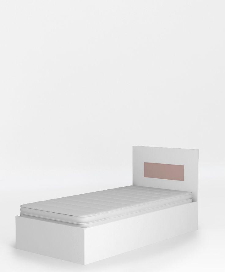 Łóżko 95 o wymiarach: 950x949x2061. powierzchnia spania to 90 x 200 cm, podnoszony stelaż na jedną stronę i schowek na pościel, stelaż z regulowaną twardością, boki łóżka wykonane z płyty laminowanej, szczyty z płyty MDF lub laminowanej.