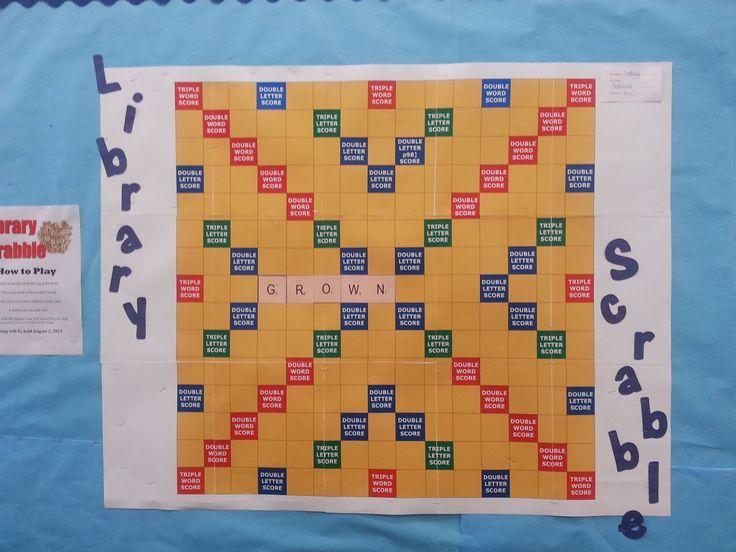 Library Bulletin Board Ideas   Library Scrabble Bulletin Board!   Little Ideas