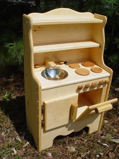Willow Toys Child's Wooden Play Kitchen Waldorf kids by Willowtoys, $235.00