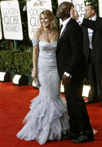 Heidi Klum and Seal, Red Carpet Golden Globes 2010
