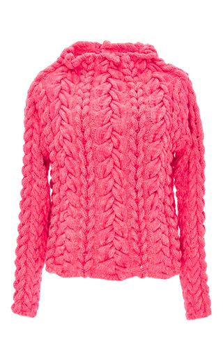 The Hollywood Cashmere Blend Hand Knit Sweater by SPENCER VLADIMIR Now Available on Moda Operandi