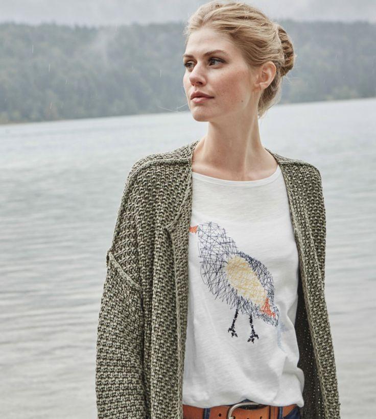 T-Shirt mit Vogelmotiv von Lieblingsstück #fashion