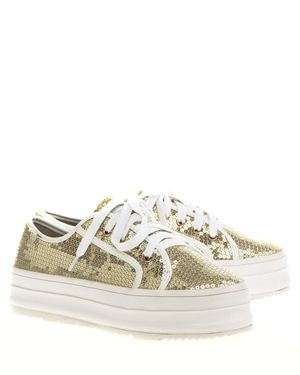 Have2have Flatforms, Alana low Gull og hvit