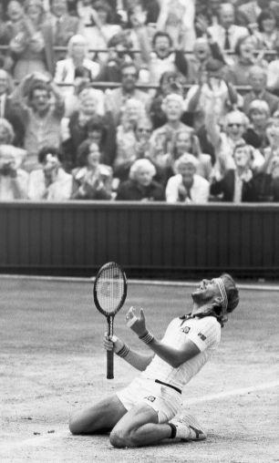 What a feeling! Bjorn Borg celebrates his 1980 Wimbledon win