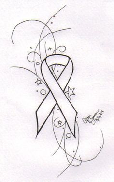 lung cancer ribbon tattoos - Google Search