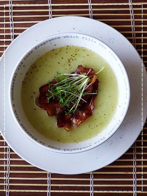 Kouzlo mého domova: Krémová polévka z řapíkatého celeru s řeřichou a s...