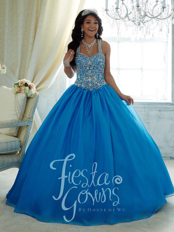 Beaded Crisscross Strap Dress by House of Wu Fiesta Gowns Style 56292