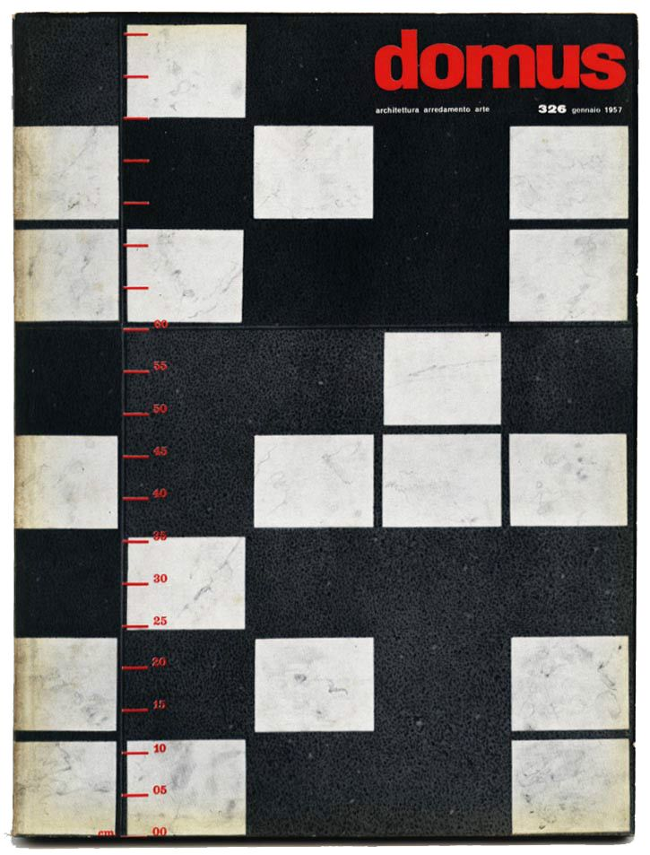 Cover of domus magazine, 1957. Unknown designer. Editor Gio Ponti, Editoriale Domus, Milan.