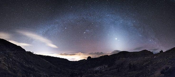 Zodiacal Light, Venus and the Milky Way,  Parque Nacional del Teide, Tenerife
