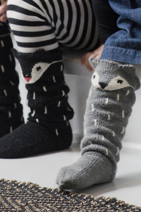 Stickade rävsockor Novita Venla | Novita knits