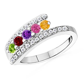 Angara Pear Ruby and Diamond Crossover Engagement Ring in 14k Yellow Gold TeYoA