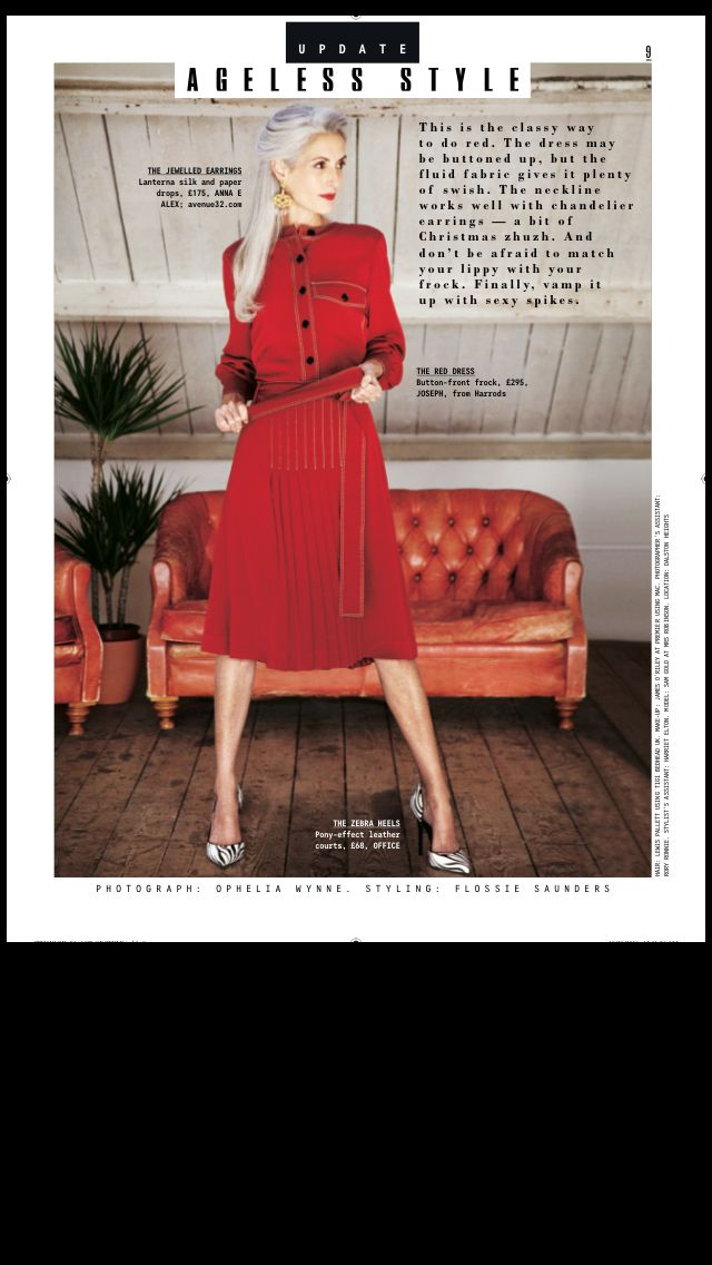 Sunday Times Style with #annaealex Lanterna earrings. Classy way to do red! www.annaealex.com or http://www.avenue32.com/us/designers/anna-e-alex/