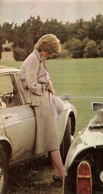 Lady Diana Spencer ,un match de polo à Windsor  - Le 16 Juin 1981