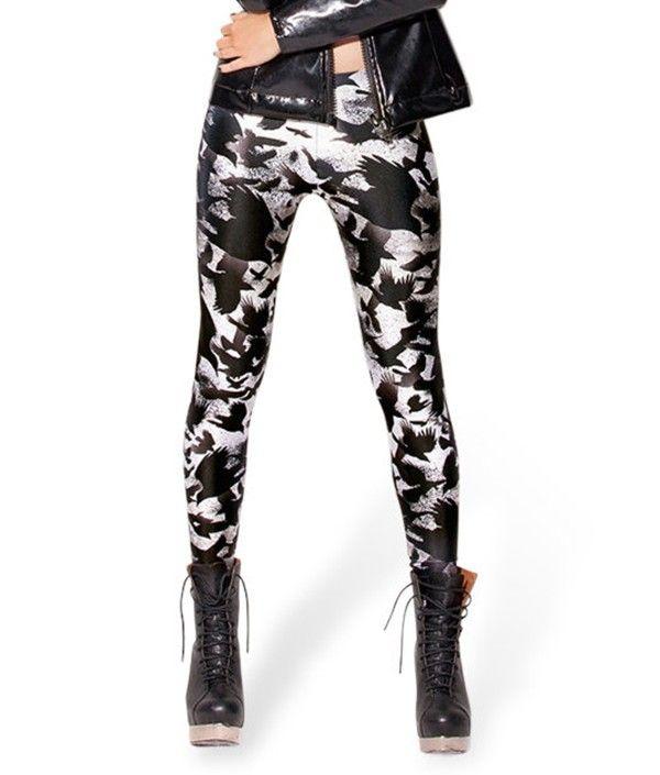 Barato Novo 2014 Sexy moda moderno Popular lazer pirata Leggins Elastic Galaxy Pants impressão Digital corvo LEGGING S106 407, Compro Qualidade Leggings de Denim diretamente de fornecedores da China:  Novo sem tags 100% Brand New Poliéster 88% e spandex de 12%                   Ásia tamanho médio