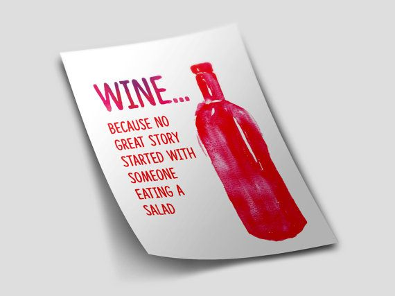 Wine Quote_ Red_Beer_ Typography Poster_Bottle by TypographyDesign
