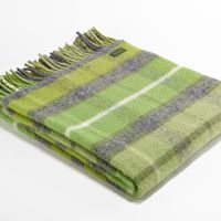 Tweedmill Lifestyle Check Throw   Green And Grey A Beautiful High Quality  Throw Ideal For The
