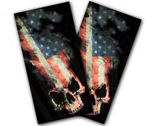 """American Skull"" Cornhole Wrap"