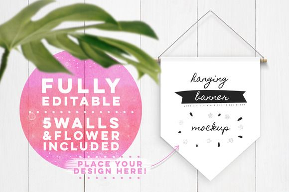 Hanging Banner Mockup by Hype Your Prints on @creativemarket