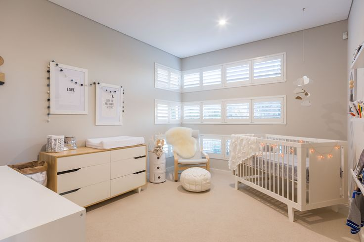 Scandinavian Style nursery in our Merlot Display Home