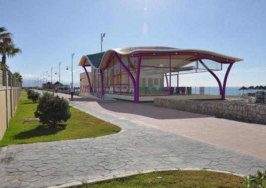 Chiringuito en las playas de Málaga