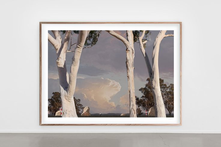 Taking a moment to reflect on our unique Australian way of life with this Lindsay Blamey piece. Lindsay is an Australian visual artist recognised for his contemporary abstract & unique fine art photographic works. Born in rural Victoria his work revolves around the juxtaposition of rural & urban Australia // 'Trees of Mona'  by Lindsay Blamey    @blameart #otomys #artist #australianartist #australiaday #lindsayblamey  photograhy #photographicwork #finearts