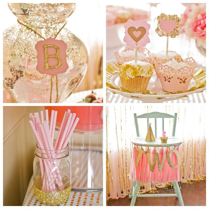 Pink and gold 2nd birthday party via kara 39 s party ideas for 2nd birthday decoration ideas