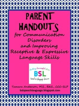 376 best slp parentteacher information images on pinterest parent handouts this is a great resource for parents it provides a quick overview of communication disorders the handouts briefly outline the difference altavistaventures Gallery