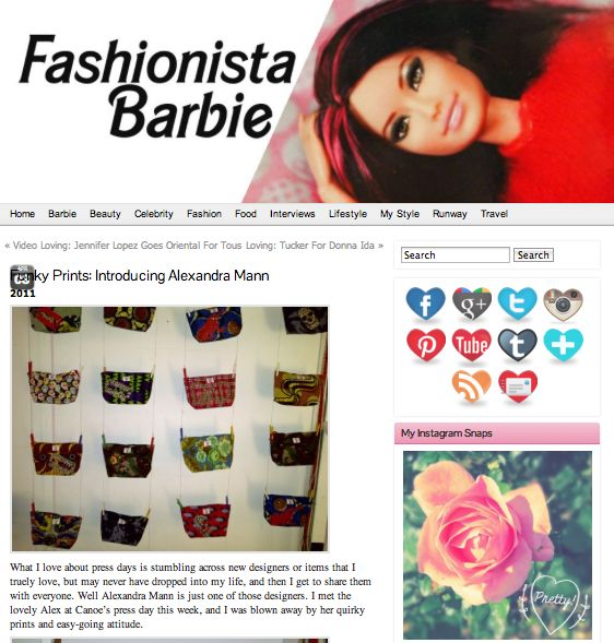 Fashionista Barbie Blog Post  http://fashionistabarbieuk.com