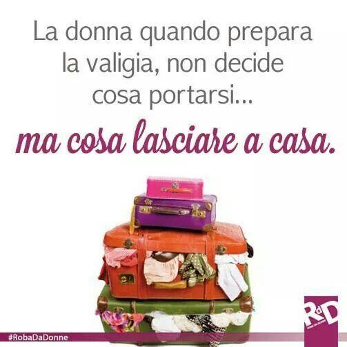 La donna e la valigia