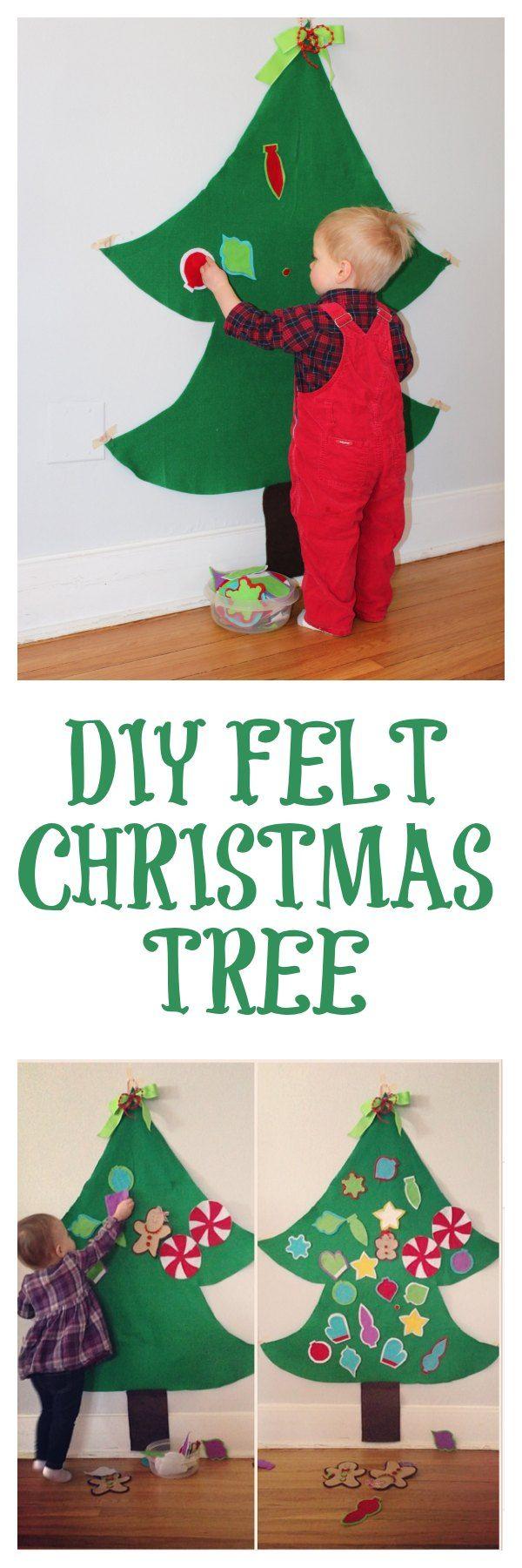 DIY Felt Christmas Tree Step-By-Step Tutorial - provides hours entertainment for kiddos!