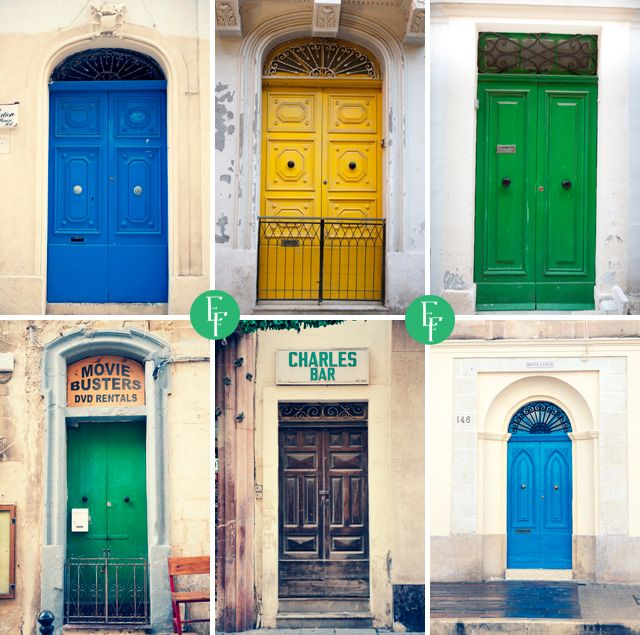 Get inspired by colourful doors, stone walls and marvelous narrow streets of Valetta, the capital of Malta! #malta #travel #trip #holidays #visitmalta #valetta #inspiration #colourful #esiktravel #door #holidays #oldtown
