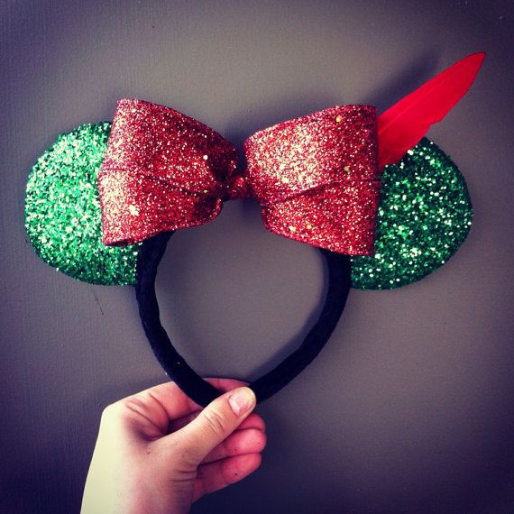Hey, I found this really awesome Etsy listing at https://www.etsy.com/listing/172667364/peter-pan-minnie-ears