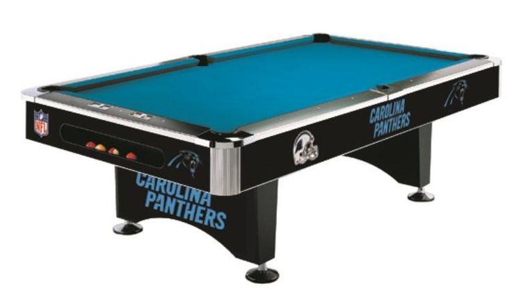 Carolina Panthers 8' Pool Table
