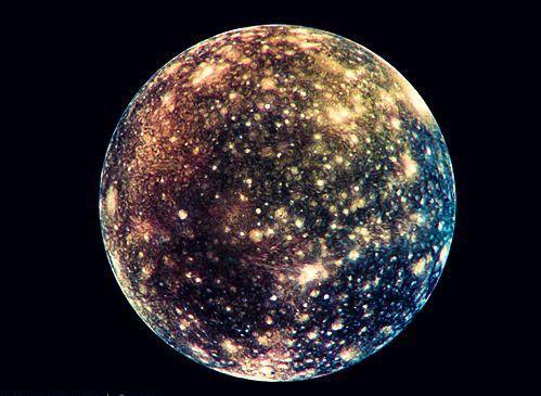 Callisto Jupiters moon It has the darkest surface of