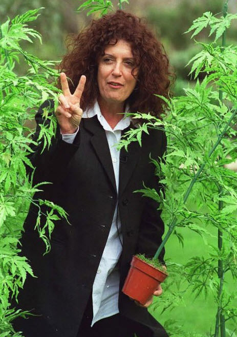 Founder of the body shop: Dame Anita Roddick, walking through a hemp field. The hemp products at the body shop are amazing!