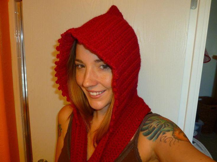 Free Hooded Scarf Pockets Crochet Pattern Pakbit For