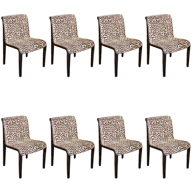 1stdibs   Set  Of  8  Mid  Century  Dining  Side  Chairs