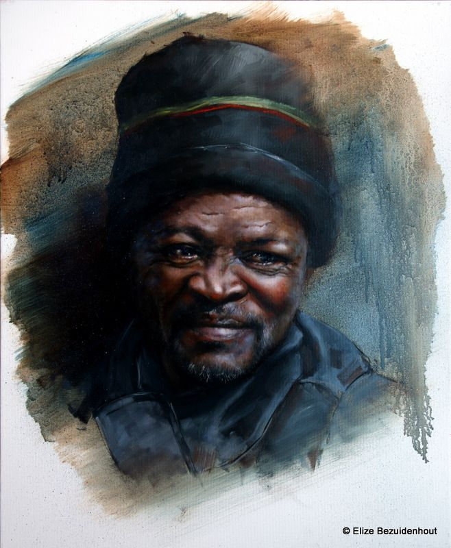Eduard By Elize Bezuidenhout 400x500mm Oil on Canvas