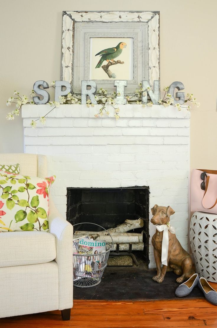Find This Pin And More On Spring By LaurieStephens. Lots Of Inspirational  Photos Of Pretty Easter Mantel Decorations.