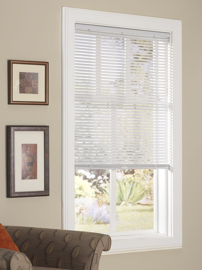 Cordless 1 Quot Vinyl Mini Blind Available At Menards And