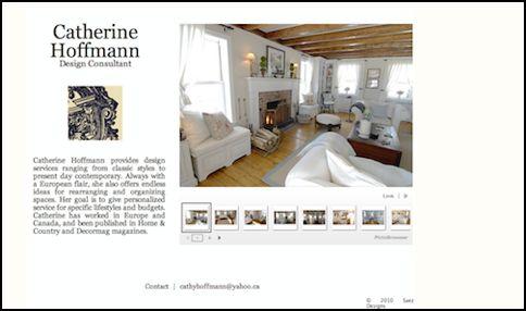 website design v1 for Catherine Hoffmann