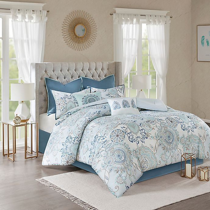 Madison Park Isla 8 Piece Reversible Comforter Set In 2020 Comforter Sets Reversible Duvet Covers California King Duvet Cover
