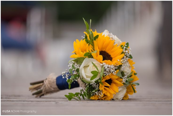 West Kelowna wedding photographer Okanagan summer bouquet sunflowers roses Bylands Nursery