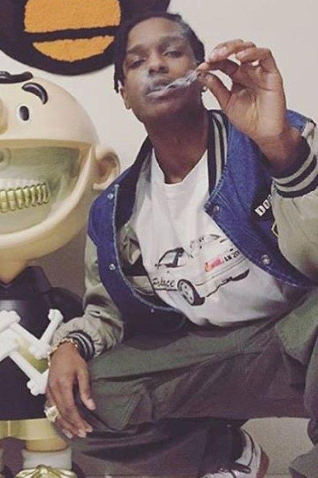 ASAP Rocky wearing  Palace Car Print T-Shirt